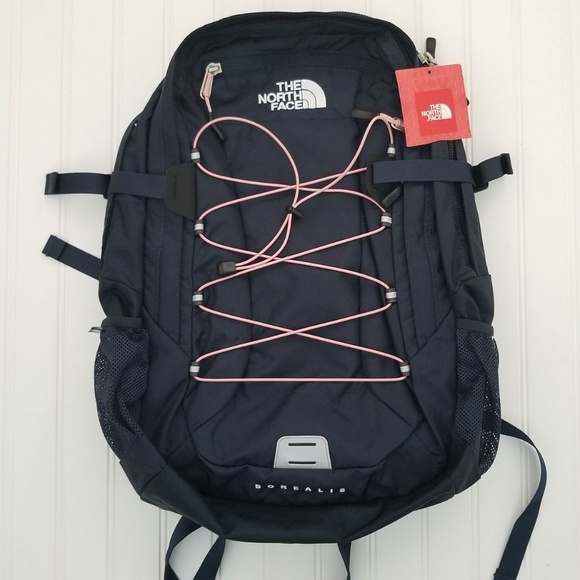 The North Face Borealis Classic Backpack Navy and Pink